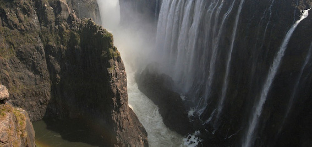 Viktoriiny vodopády v roce 2009