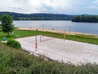 Vodní nádrž Lipno - pláž Frymburk; https://www.lipno.cz/volny-cas/koupani-a-vodni-sporty/plaze